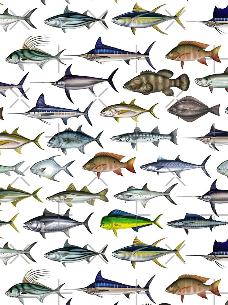 Sea Gamefish, Mahi, Snook, Marlin, Swordfish ,Sailfish, Tarpon - Digital drawing by (ANTARTOUTDOORS) by Antartoutdoors1