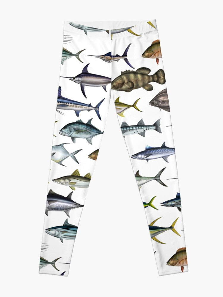 Alternate view of Sea Gamefish, Mahi, Snook, Marlin, Swordfish ,Sailfish, Tarpon - Digital drawing by (ANTARTOUTDOORS) Leggings