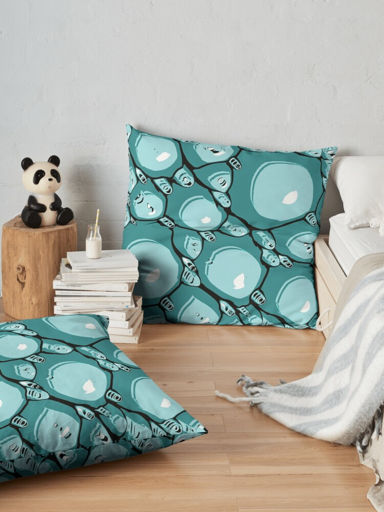 Alternate view of Abstract Turquoise Pattern  Floor Pillow