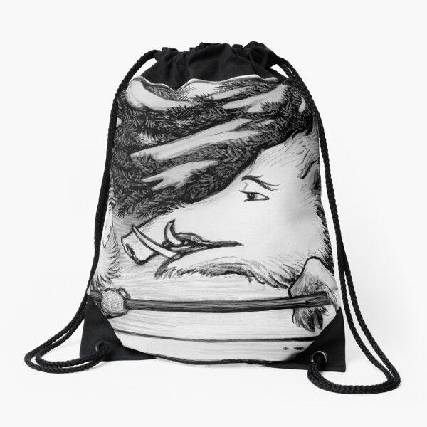 Solstice Boar Hunt Drawstring Bag