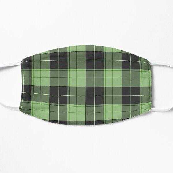 Einfaches Tartan-Muster in hellem Grün Flache Maske
