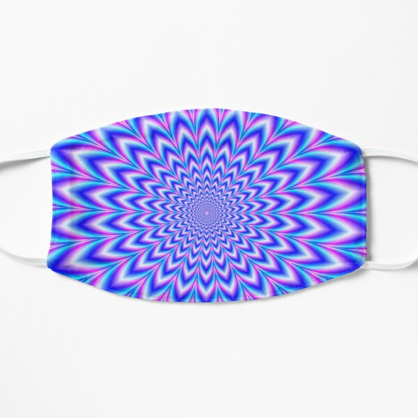 Psychedelic Pulse in Blue and Pink Flat Mask