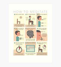 Wie man meditiert Kunstdruck
