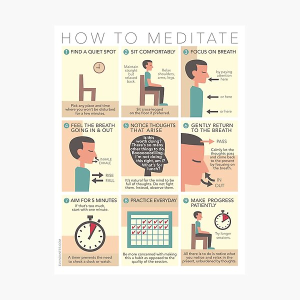 How to Meditate Photographic Print