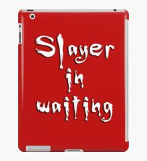 Slayer in waiting iPad Case/Skin