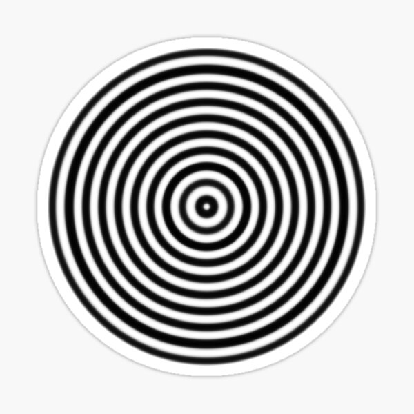 Funky Concentric Circles Sticker