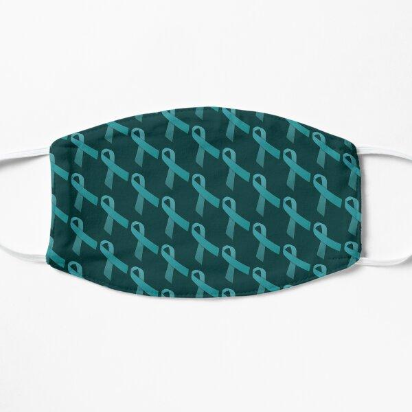 Teal Ribbon Tiled Pattern Mask