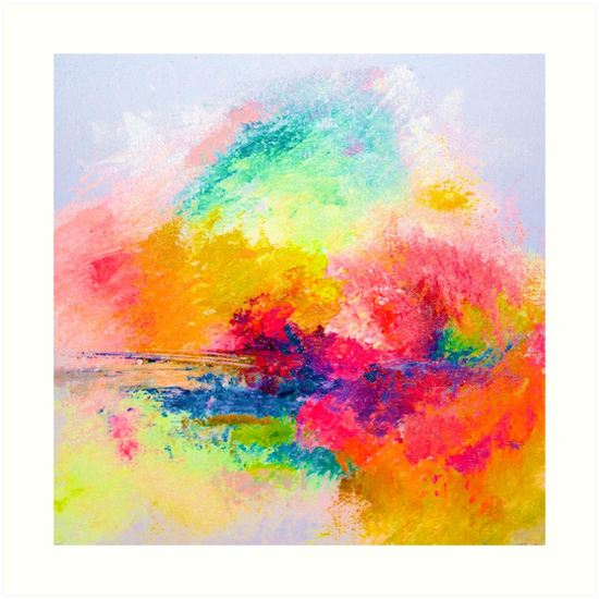 Bright Colorful Abstract Painting Print By Theartwerks