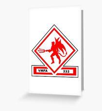 Marine Fighter Attack Squadron 232 Insignia  Greeting Card
