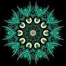 Green Pattern Kaleidoscope by fantasytripp