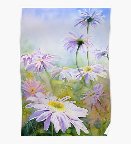 Giant Daisies Poster