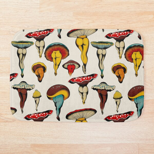 Sexy mushrooms tattoo flash Bath Mat