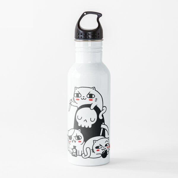 Death Is A Cat Person Water Bottle
