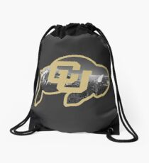 University of Colorado Boulder (mountains) Drawstring Bag