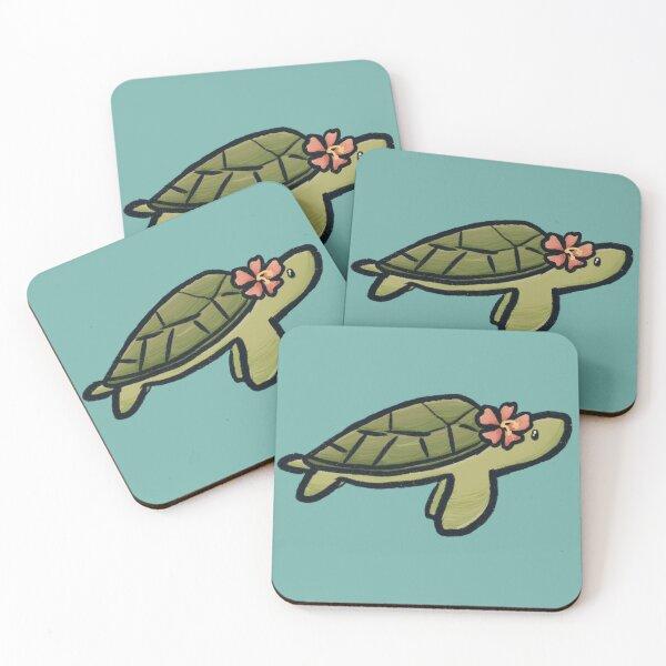 Flower Turtle Coasters Redbubble