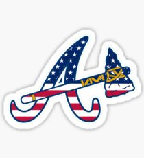 Atlanta Braves Flag Logo Sticker