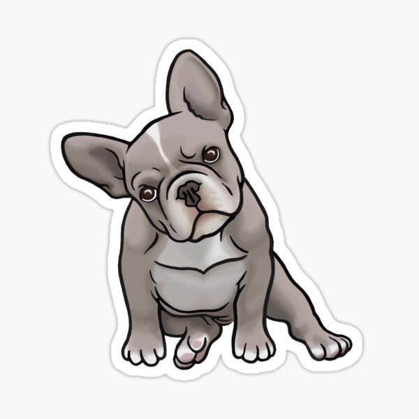 Grey Frenchie Sticker