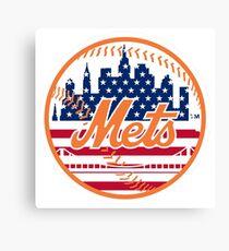 New York Mets Flag Logo Canvas Print