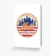 New York Mets Flag Logo Greeting Card
