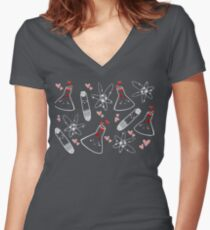 Chem love Women's Fitted V-Neck T-Shirt