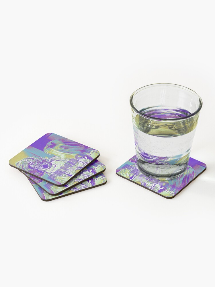 Alternate view of A Fembot Is Revealed Coasters (Set of 4)