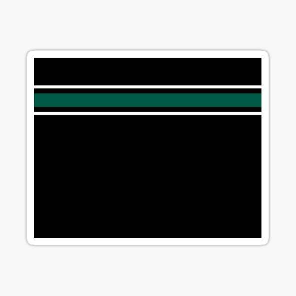 Teal and White Stripes  Sticker
