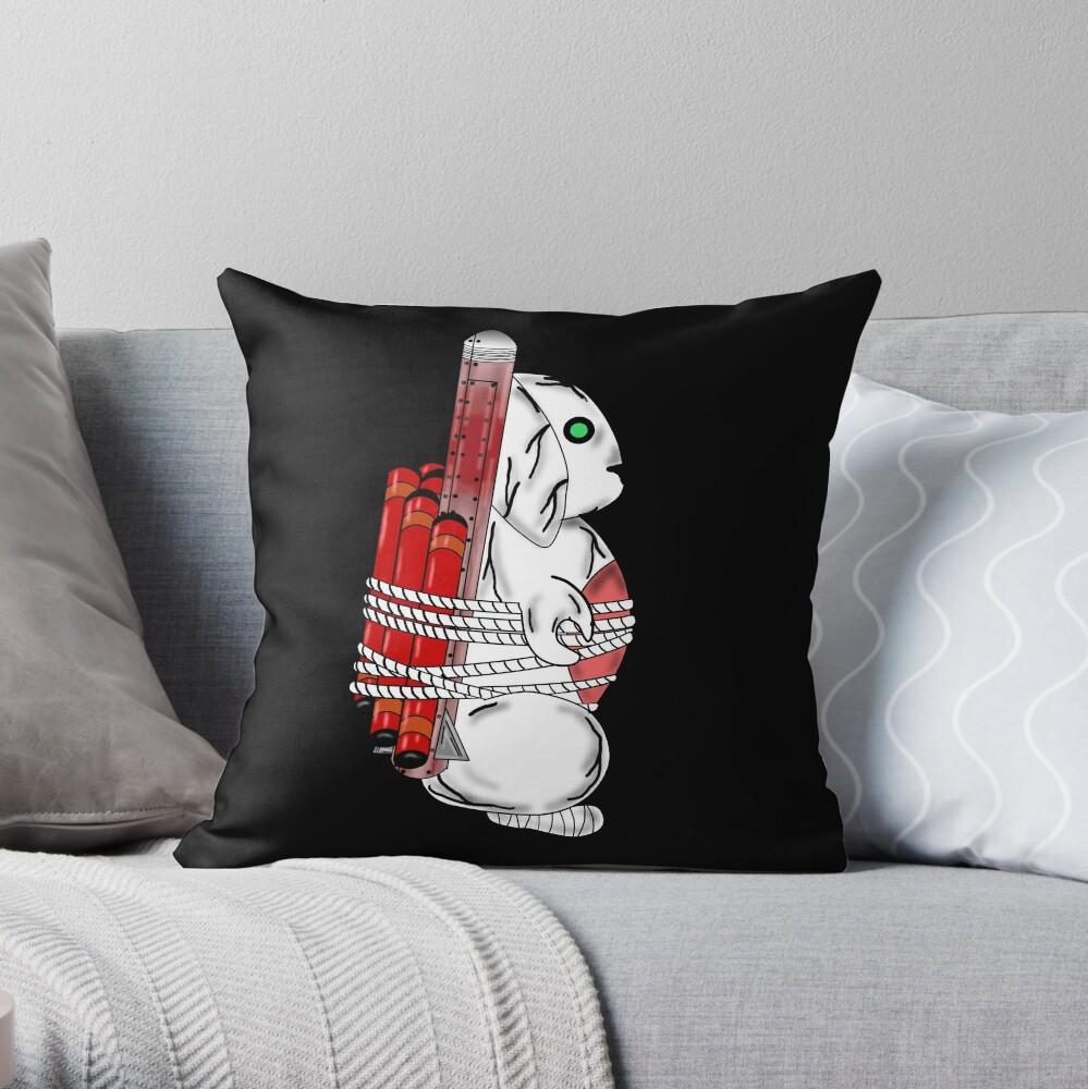 Tiny Tina Bunny Soldier Throw Pillow