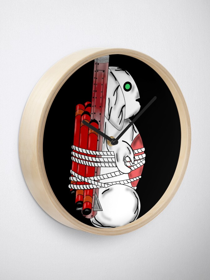 Alternate view of Tiny Tina Bunny Soldier Clock
