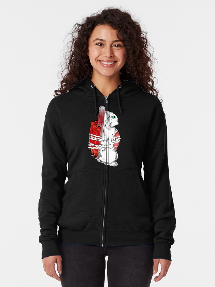 Alternate view of Tiny Tina Bunny Soldier Zipped Hoodie