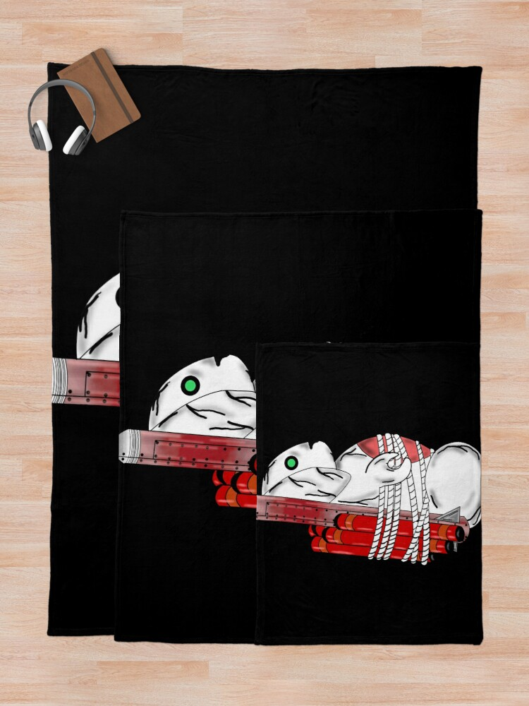 Alternate view of Tiny Tina Bunny Soldier Throw Blanket