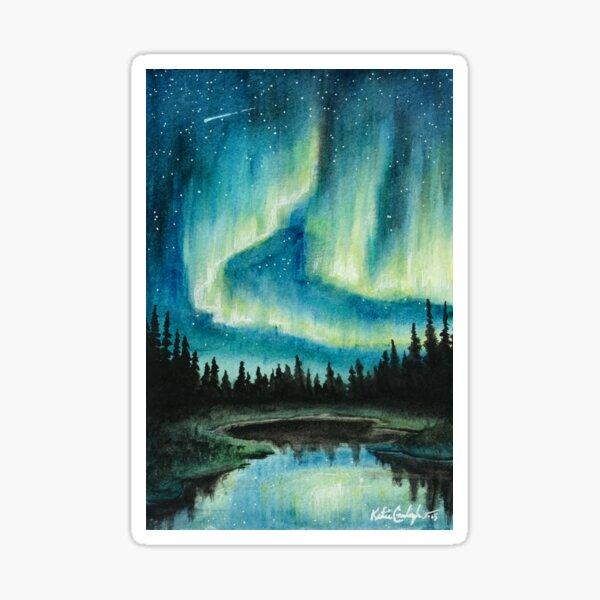 Skyscape - Northern Lights Sticker