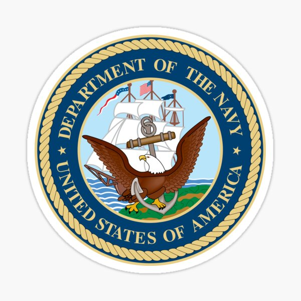 Seal of the United States Department of Navy  Sticker