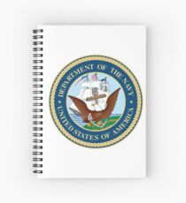 Seal of the United States Department of Navy  Spiral Notebook