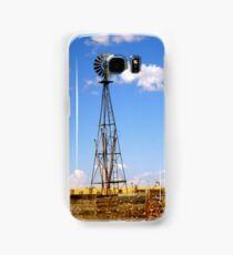 Windmill in Moriarty, New Mexico Samsung Galaxy Case/Skin
