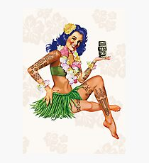 Hawaiian Pin-up Photographic Print
