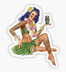 Hawaiian Pin-up Sticker