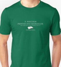 Camiseta ajustada A. Malcolm Impresor y librería