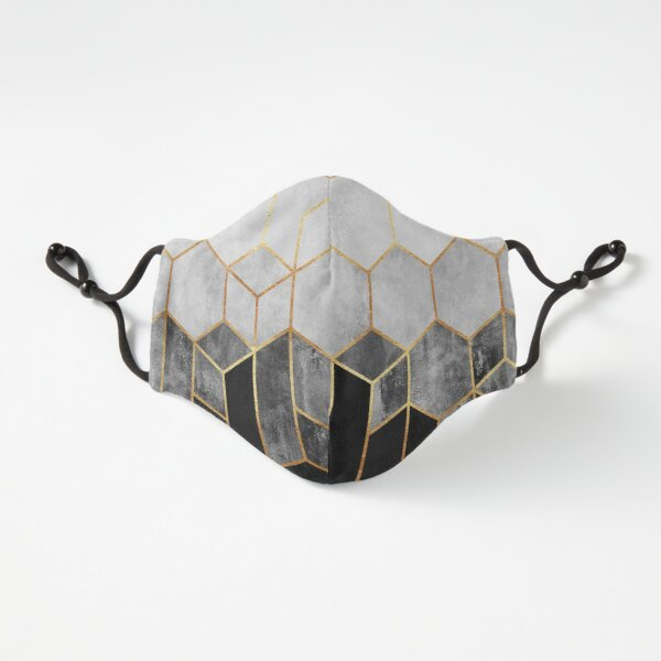 Charcoal Hexagons Fitted 3-Layer