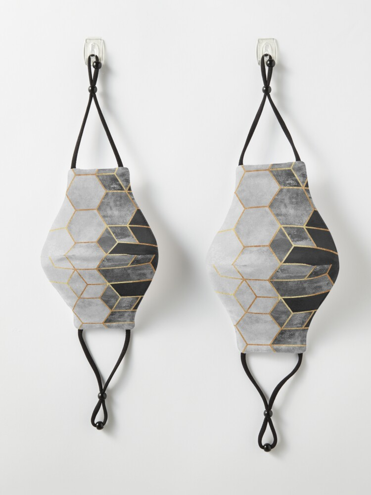 Alternate view of Charcoal Hexagons Mask