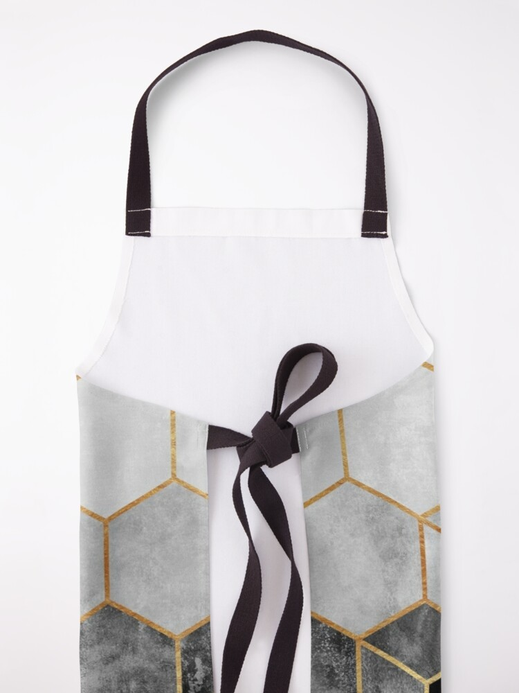 Alternate view of Charcoal Hexagons Apron