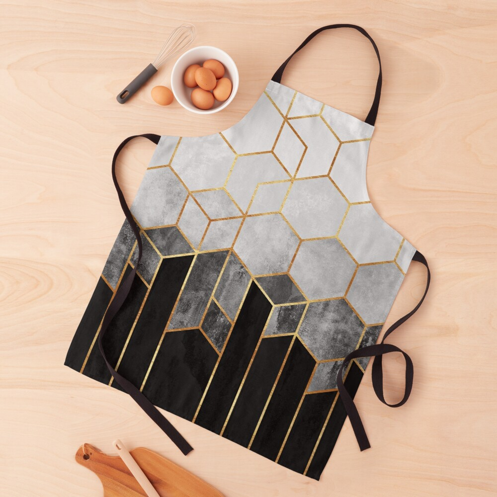 Charcoal Hexagons Apron