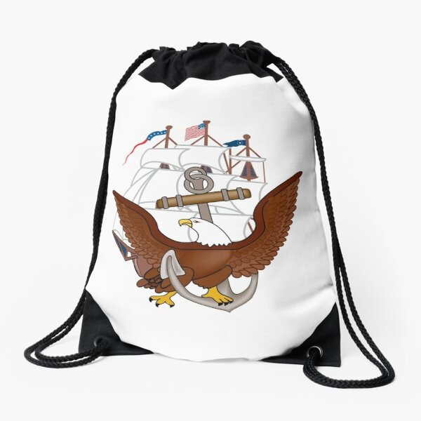 United States Navy Anchor Constitution Eagle Insignia Drawstring Bag