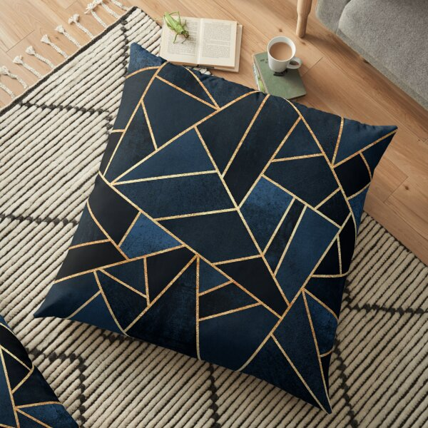 Navy Stone Floor Pillow
