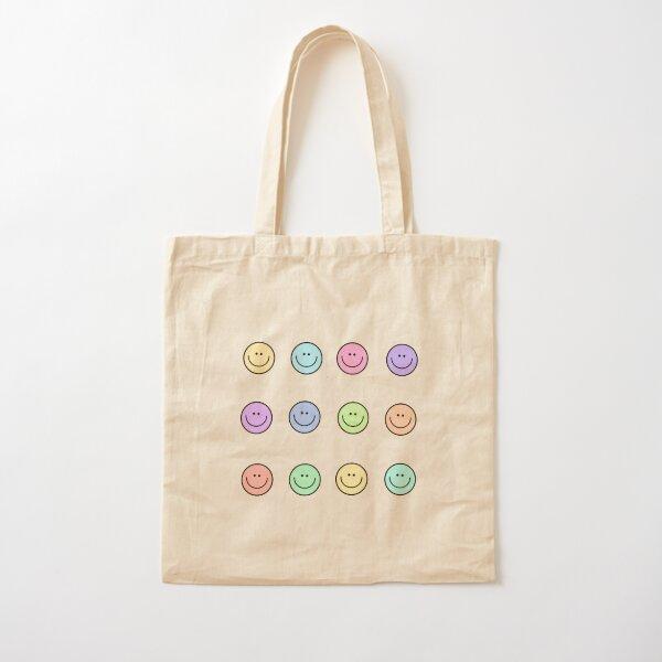 Multi colored smiley  Cotton Tote Bag