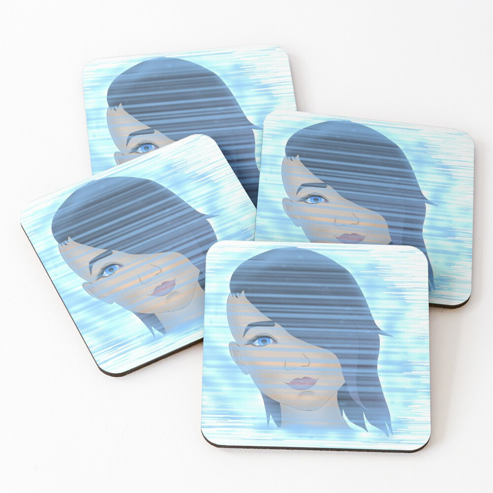 Angel on the Screen Coasters (Set of 4)