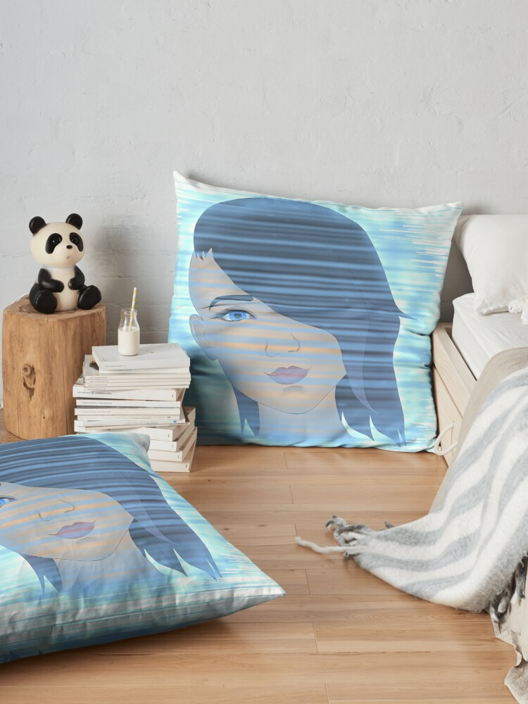 Alternate view of Angel on the Screen Floor Pillow
