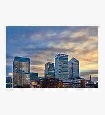 Canary Wharf skyline Photographic Print
