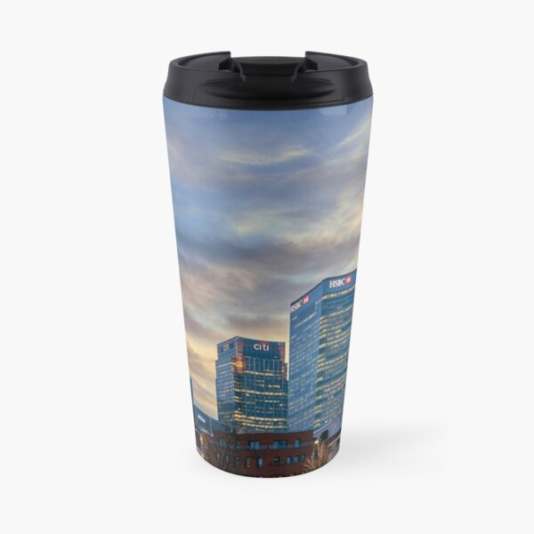 Canary Wharf skyline Travel Mug
