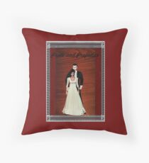 Pride and Prejudice Darcy and Lizzy Throw Pillow