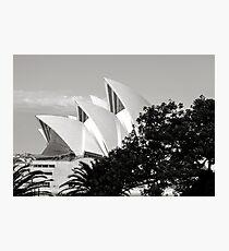 Sydney Opera House Black and White Photographic Print